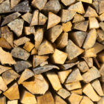stack of seasoned firewood